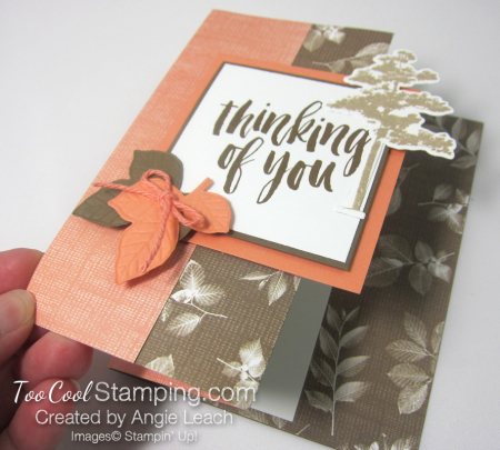 Natures poem fun fold card - suede 5