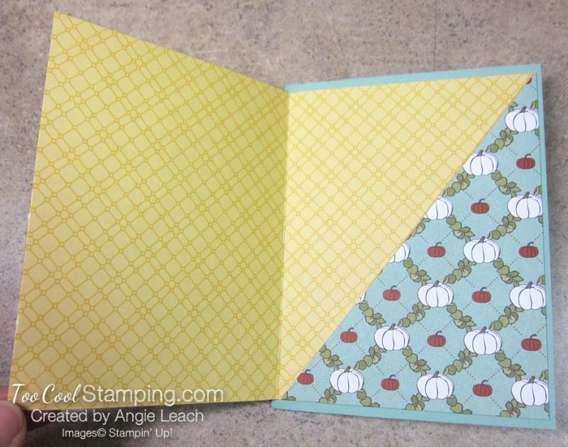 Country lane diagonal pocket card - mint thankful 2