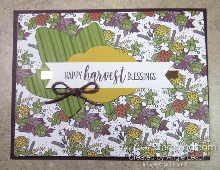 Country lane diagonal pocket card - blackberry harvest