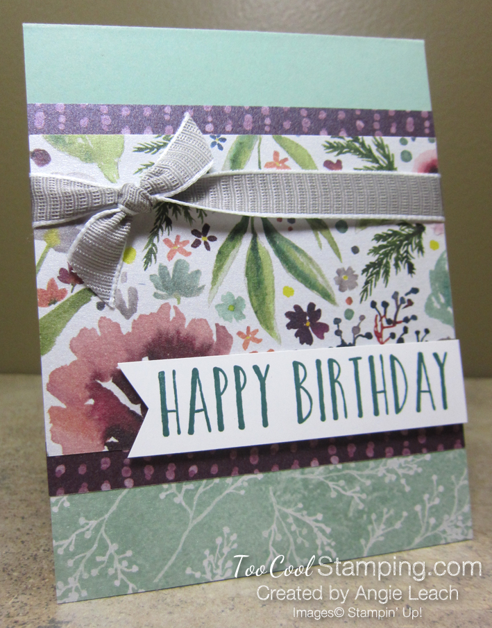 Frosted floral birthday - mint