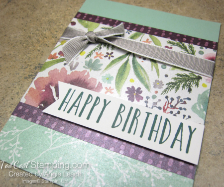 Frosted floral birthday - mint 2