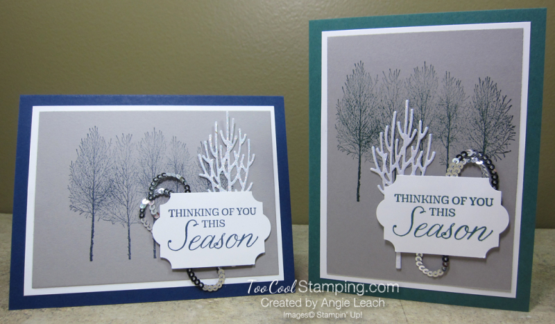 Winter woods thinking of you - two cool