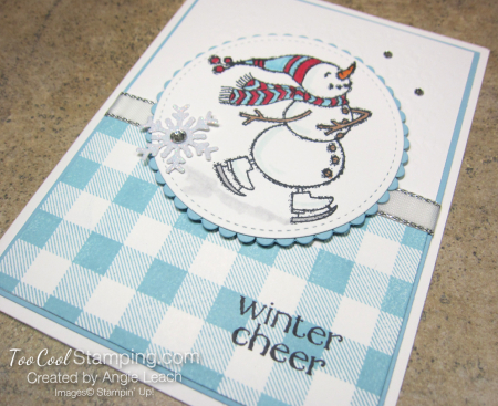 Spirited snowman buffalo check - winter cheer 2
