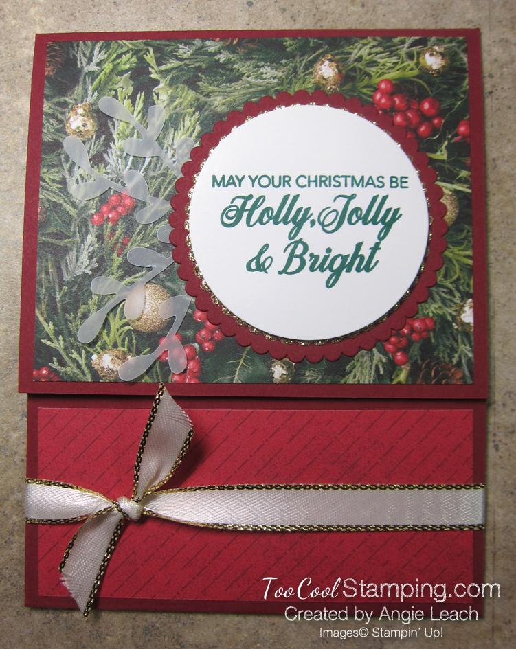 Making Christmas Bright Gift Card Holders - holly jolly