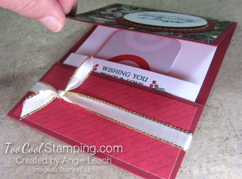 Making Christmas Bright Gift Card Holders - holly jolly 7