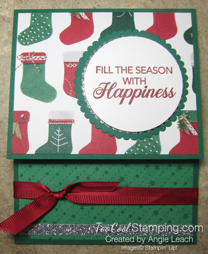 Making Christmas Bright Gift Card Holders - happiness