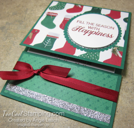 Making Christmas Bright Gift Card Holders - happiness 2