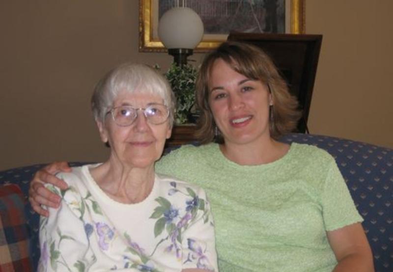 Grandma Hunt & me