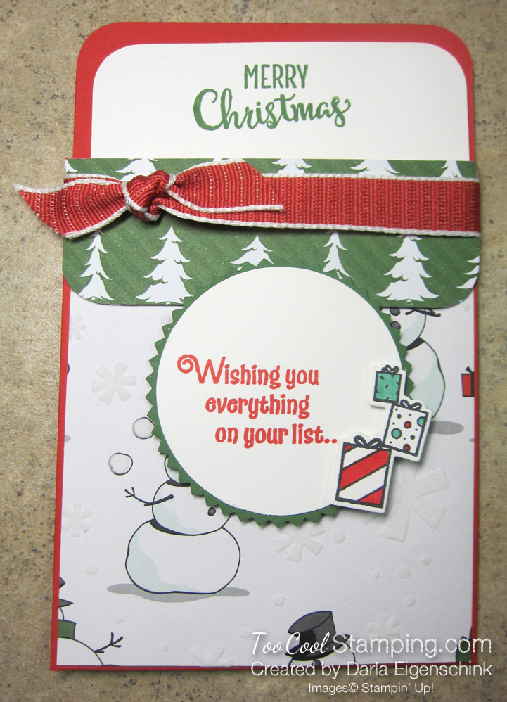 Darlas pull out gift card holders - snowman