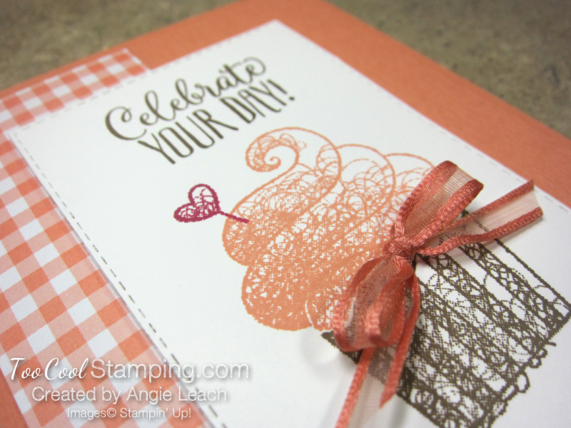 Hello cupcake gingham - grapefruit 3