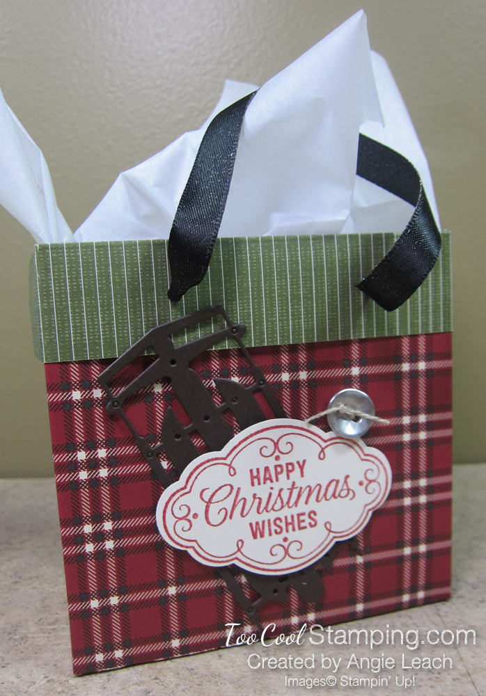 Dsp mini gift bags - plaid red 1