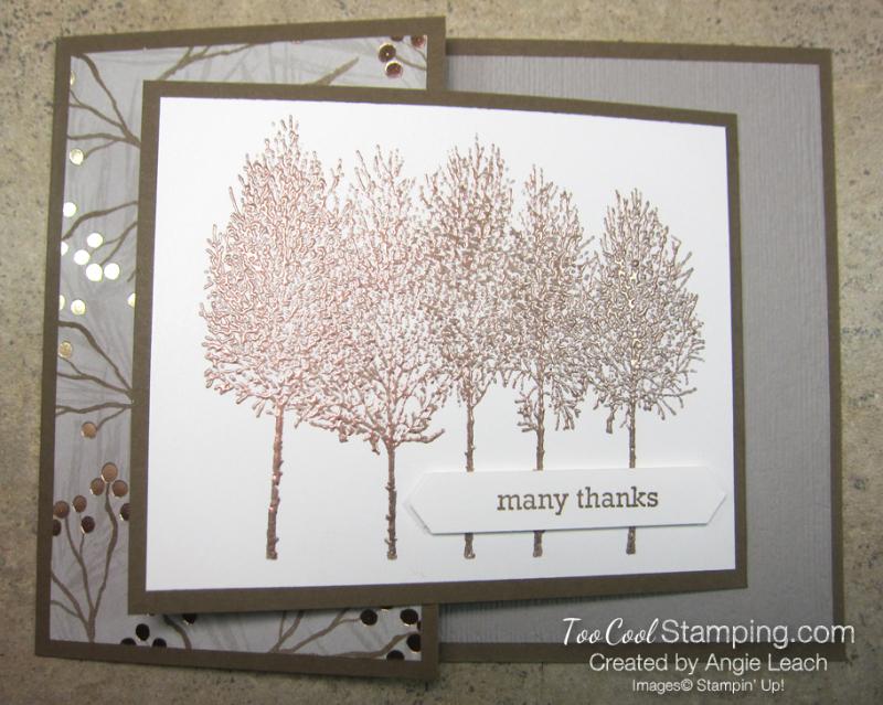 Winter Woods Joy Fold - joyous copper