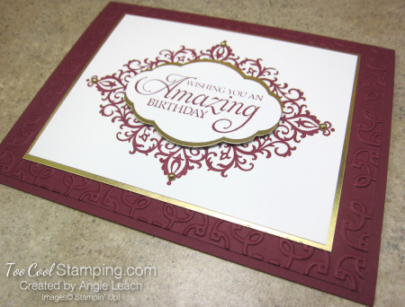 Flourish filigree - merlot 2