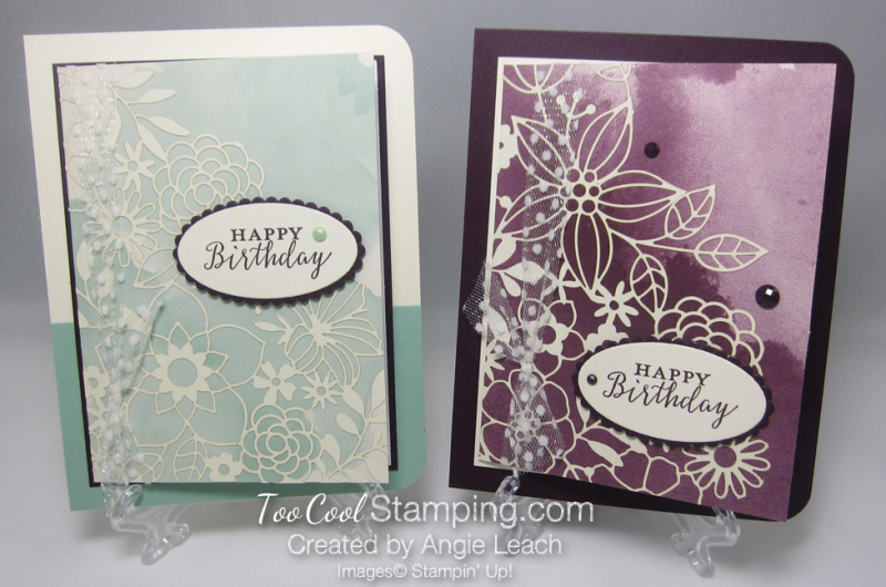 Delightfully detailed note card cards - two cool