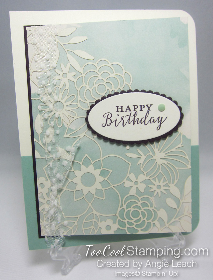 Delightfully detailed note card cards - mint