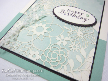 Delightfully detailed note card cards - mint 3