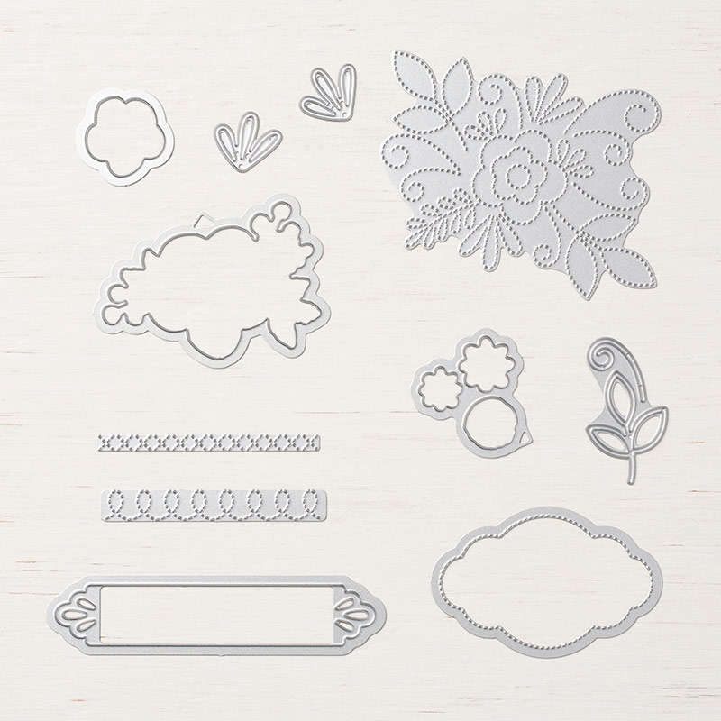 Needlepoint elements framelits 148541G