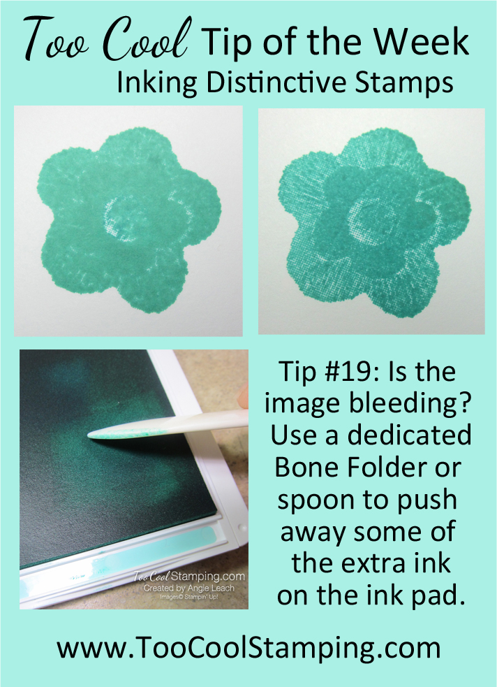 Too Cool Tip of the Week - 19 Inking Distinctive Stamps