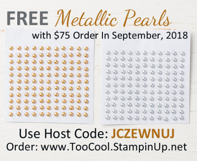 September gift - metallic pearls
