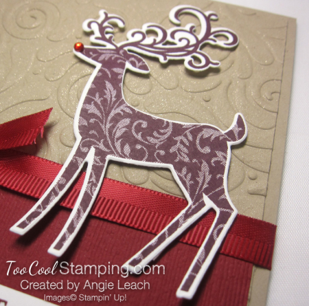 Dashing deer swirls - reds 4
