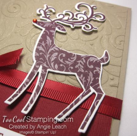 Dashing deer swirls - reds 4
