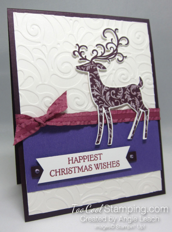 Dashing deer swirls - purples 1