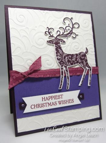 Dashing deer swirls - purples 1