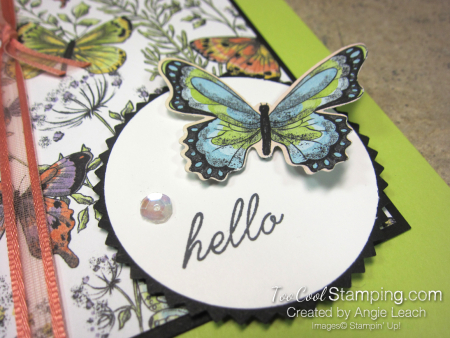 Botanical butterfly wildflowers - hello lime 4