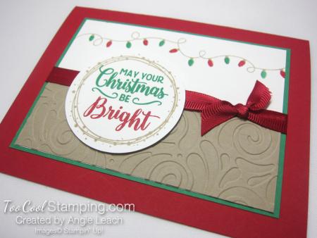 Bright christmas bulb strand - red 3