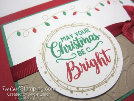 Bright christmas bulb strand - red 4