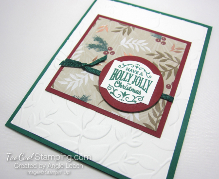 Paper sampler cards - holly jolly 2