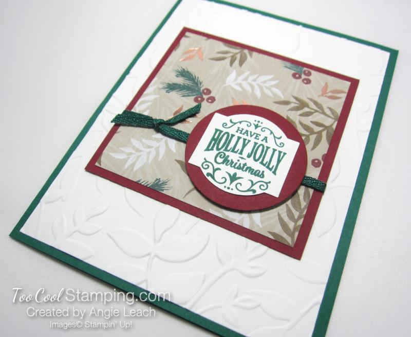 Paper sampler cards - holly jolly 2