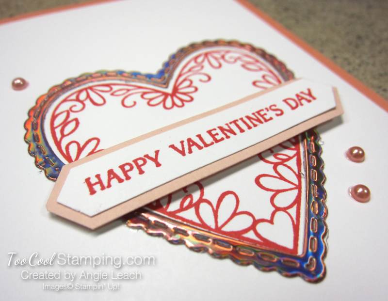 Meant To Be Foil Heart Ombre - grapefruit grove 4
