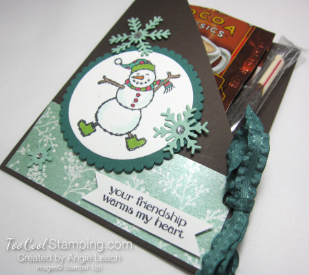 Spirited snowman hot cocoa pouches - tranquil tide 2