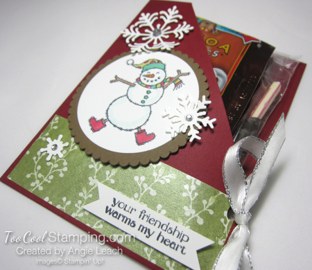 Spirited snowman hot cocoa pouches - cherry cobbler 2