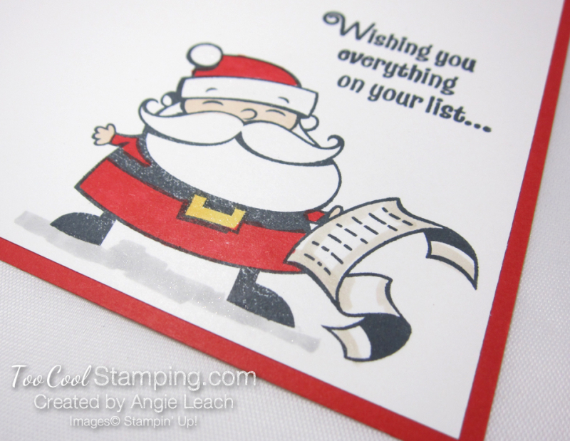 Quick & easy gift card holder - santa 4