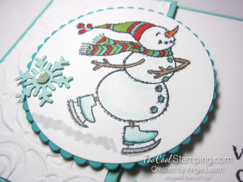 Quick & easy gift card holder - snowman 3