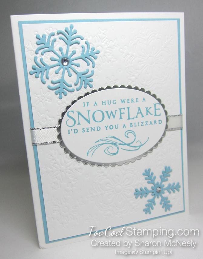Beautiful Blizzard White Snowflake Hugs - balmy blue 1