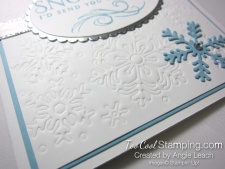 Beautiful Blizzard White Snowflake Hugs - balmy blue 3