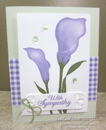Lasting lily gingham - sea foam