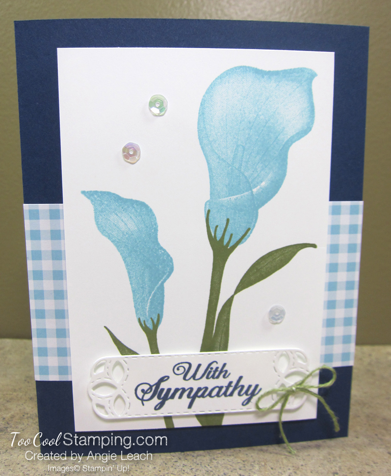 Lasting lily gingham - navy