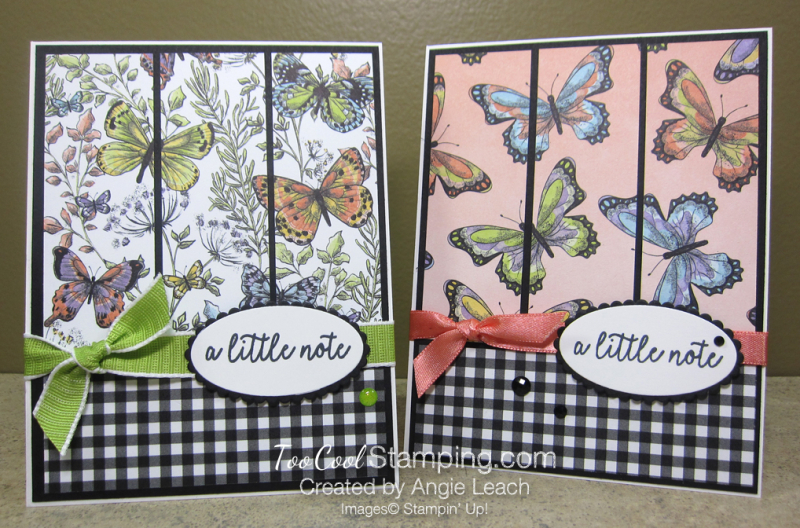 Botanical Butterfly Panels - two cool