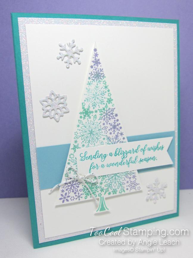 Snow is glistening sponged tree - 1