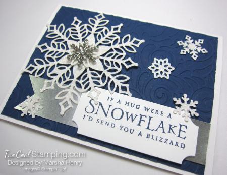 Snowfall swirls blizzard - navy 2
