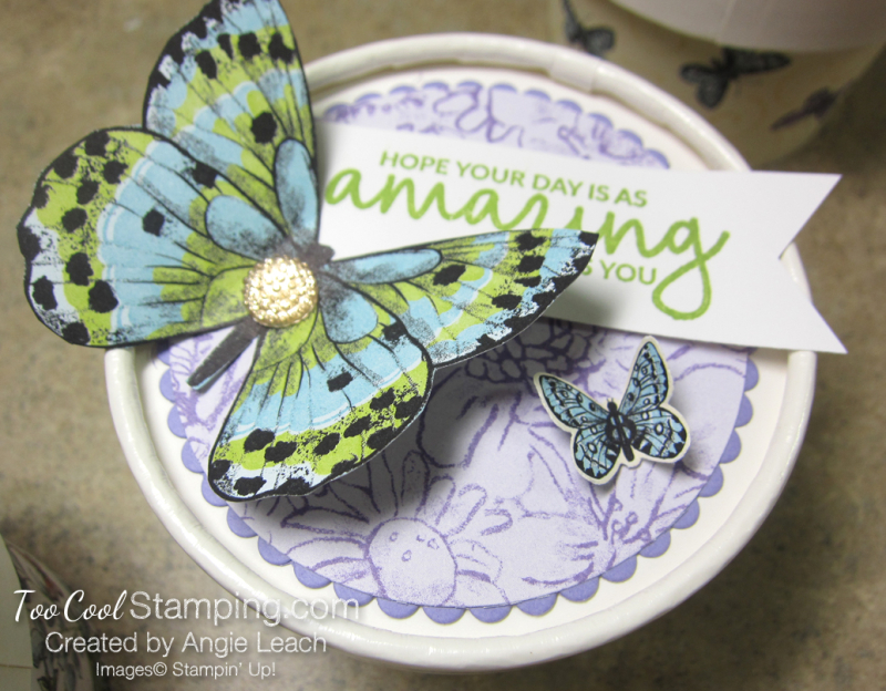 Butterfly sweet cups - lid 4
