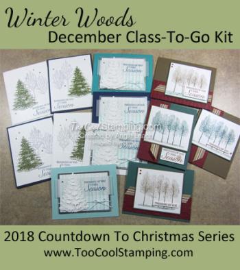 Winter woods class banner