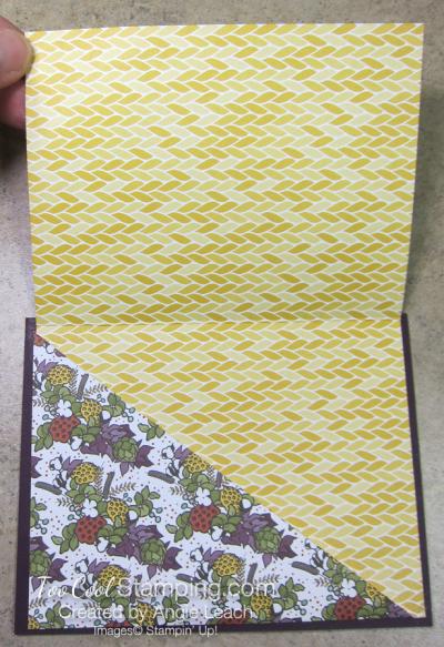 Country lane diagonal pocket card - blackberry harvest  2