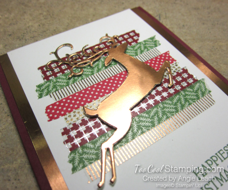 Dashing deer with washi tape - copper 3
