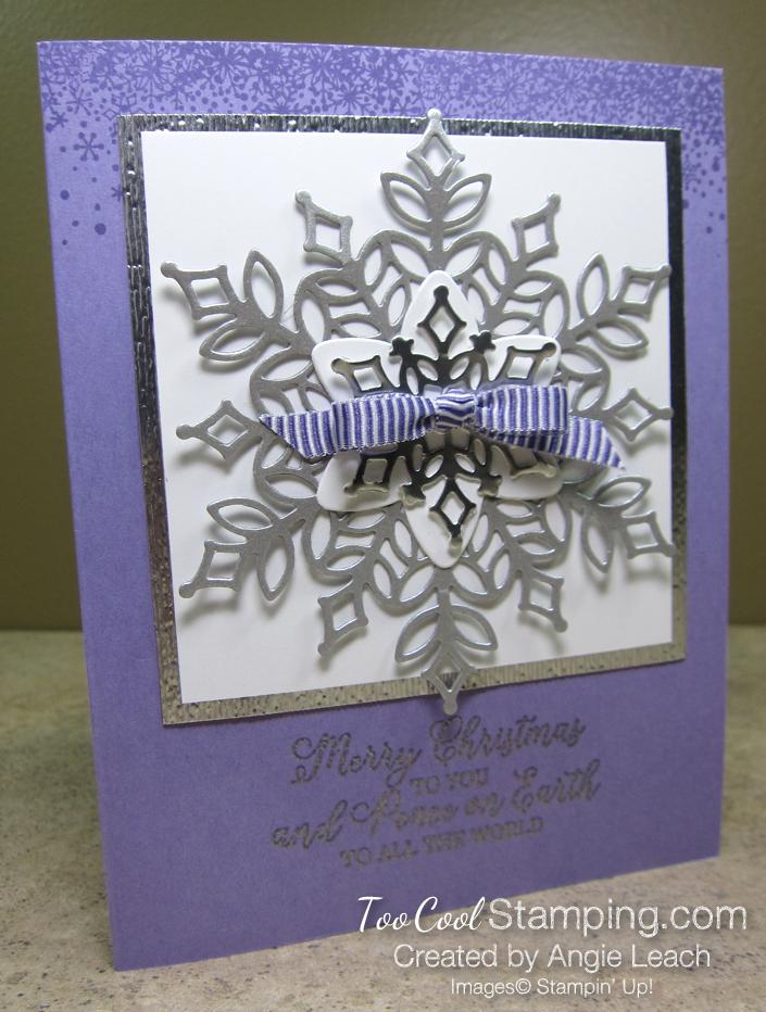 Snowfall Silver Snowflake - grape