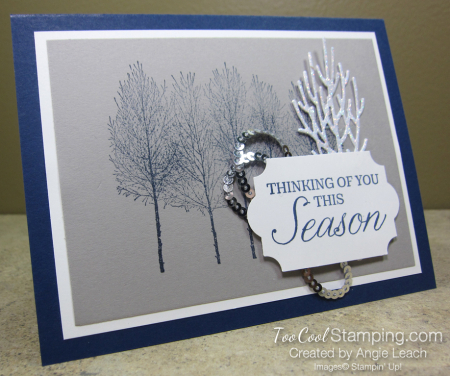 Winter woods thinking of you - navy